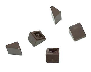 Lego-5-New-Dark-Brown-Slope-30-1-x-1-x-2-3-Sloped-Pieces