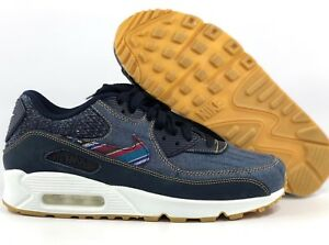 free shipping 52c3c f9621 Image is loading Nike-Air-Max-90-Premium-Afro-Punk-Obsidian-