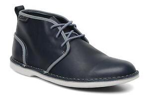 Clarks-Hombre-Marden-Heath-Marron-O-Azul-Marino-Cuero-UK-6-5-8-5-9-9-5-11