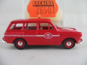 Brekina-26501-VW-1500-Variant-1961-034-AvD-034-in-rot-weiss-1-87-H0-NEU-OVP
