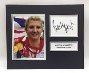 Coa Autograph Athletics Running Rare Adam Gemeli Team Gb Signed Photo Display London 2012
