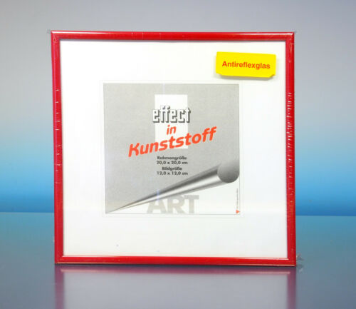 200272 Art effect in Kunststoff Bilderrahmen Antireflexglas 20x20cm Rahmen