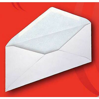 New 500 White Security Tint Envelopes #10 Gummed Flap Colombian