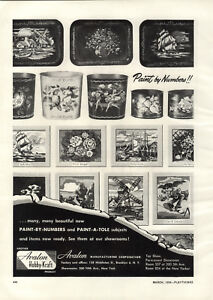 1954-PAPER-AD-Avalon-Paint-By-Numbers-Trays-Trash-Cans-Clown-A-Tole