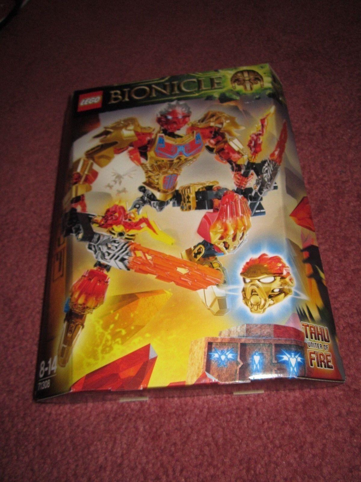 LEGO BIONICLE TAHU UNITER OF FIRE 71308 - NEW BOXED SEALED