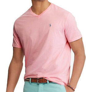 Polo-Ralph-Lauren-Mens-Big-and-Tall-Classic-Fit-V-Neck-Cotton-T-Shirt-Pink-XLT