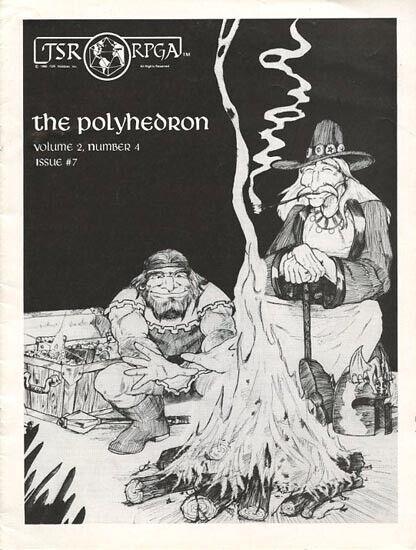 Poliedro revista número  7 EXC +  Rpga AD&D D&D TSR newszine Dungeons Dragons