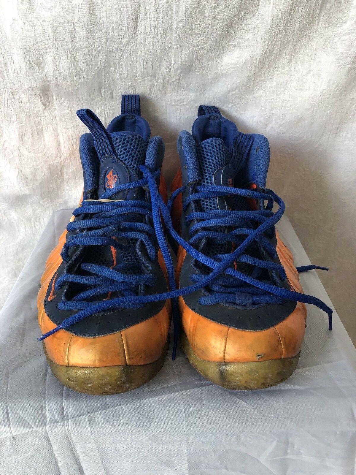 nike foamposite orange größe - blauen knicks mens größe orange 12 basketball - schuhe 314996-801 94b462
