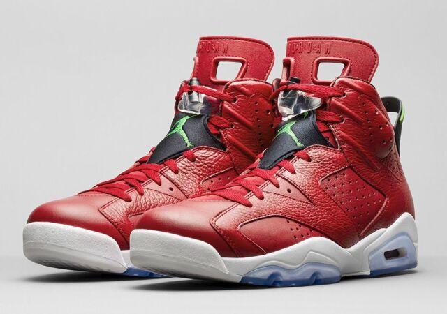 9d45536d6b0827 Air Jordan Retro VI Spizike 694091-625 History of Jordan 6 Nike Size ...