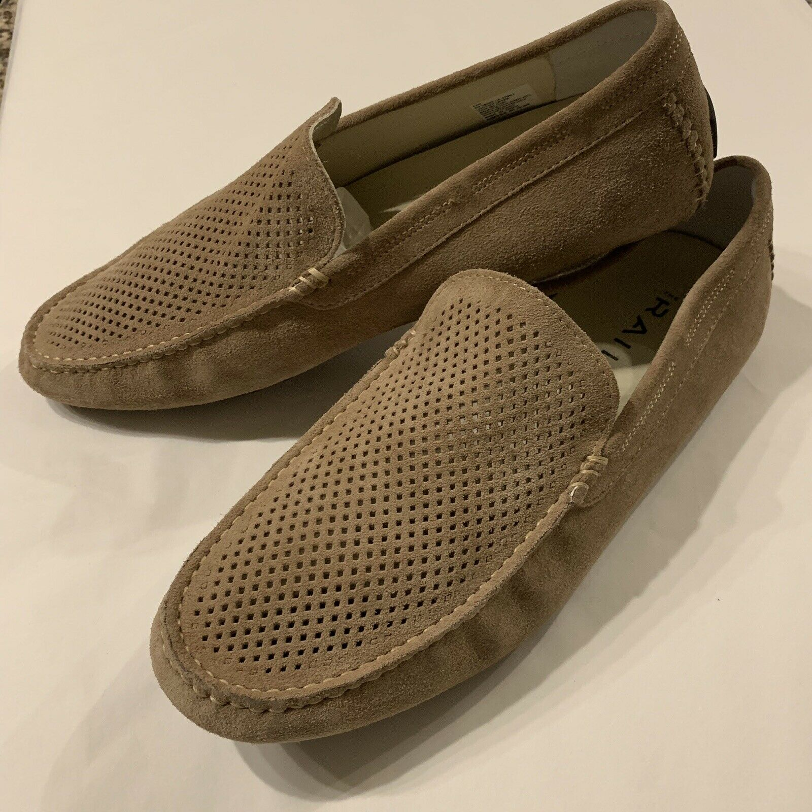The Rail Morgan Men's Suede Driving Slip On Casual Loafers Size 10-11 EUR 43M