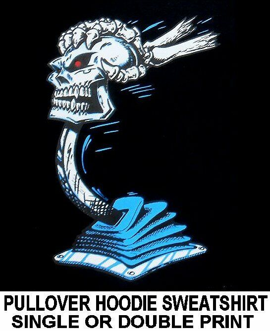 OLD SCHOOL MUSCLE HOT ROD OUTLAW RACE CAR SKULL SHIFTER HOODIE SWEATSHIRT DS25