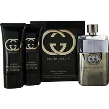 Gucci Guilty Pour Homme EDT Spray 3 oz & Aftershave Balm 1.6 oz & All Over Shamp