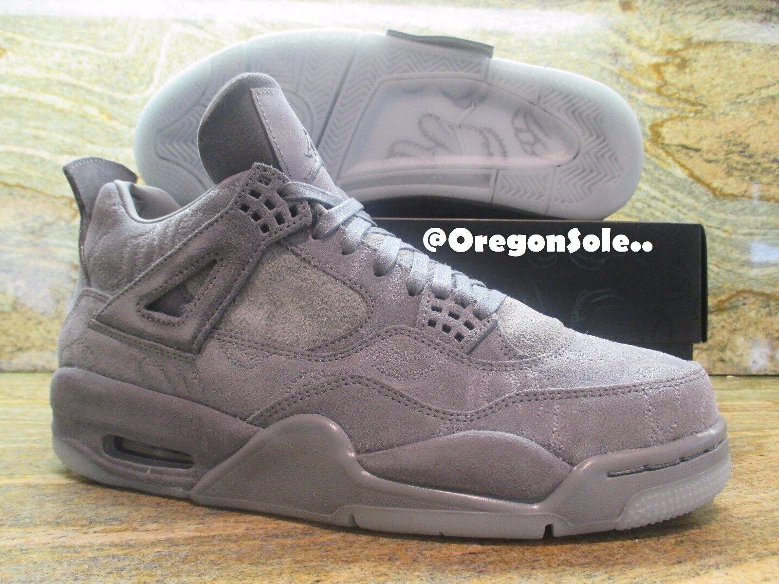 Nike air jordan 4 iv retr kaws sz 8,5 8,5 8,5 cool grey brilla nel buio 930155-003 camoscio 7ac50f