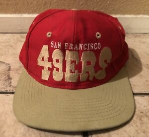 Image is loading Vintage-NFL-San-Francisco-49ers-Football-Hat-Snapback- e193e8084