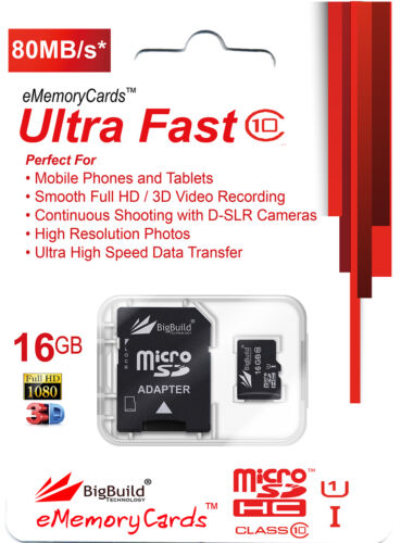 16GB MicroSD Memory card for Huawei MediaPad T5 Tablet 90MB//s Class 10 SDHC
