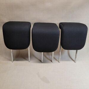 2008-2010-SCION-XD-OEM-REAR-BACK-SEAT-HEADRESTS-HEAD-REST-SET-OF-3-BLACK-CLOTH-3
