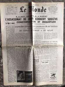 N79-La-Une-Du-Journal-Le-Monde-24-Et-25-Novembre-1963
