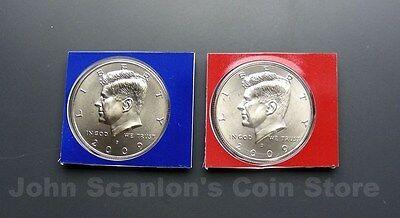 In Mint Plastic//Cello BU Satin Finish 2009 P/&D Kennedy Half Dollars 2-Coin Set