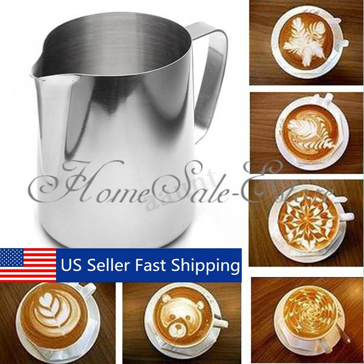Kitchen /& Dining Milk Frothing Mug Coffee Cup Pitchers Jug Foam Container