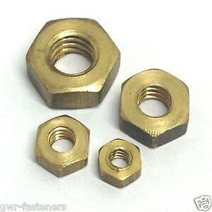 half NUTS 6 BA steel HALF NUTS pack of 10-6ba