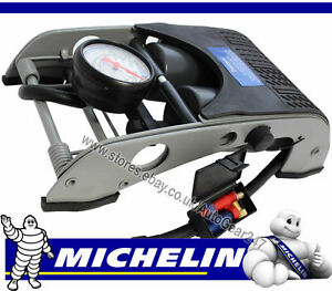 MICHELIN-12202-Double-Barrel-Piston-Car-Van-Cycle-Bike-Tyre-Inflator-Foot-Pump