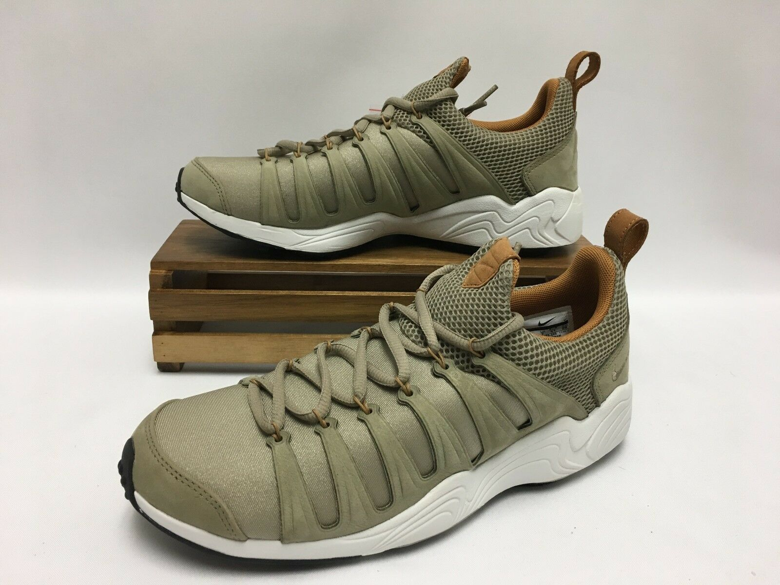 Nike Air Zoom Spirimic shoes Bamboo Brown 881983-200 Men's Size 8 or 8.5 NWOB