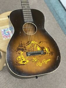1950's Harmony H608 Roy Rogers Stencil Acoustic Guitar