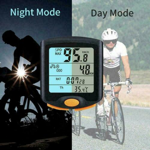 Wireless Bike Cycling Bicycle Cycle Computer Odometer F5X3 Backligh M3E6