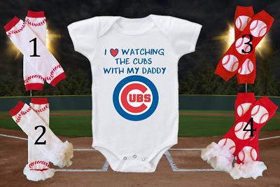 Boston Red Sox Onesie Bodysuit Shirt Love Watching WIth Daddy