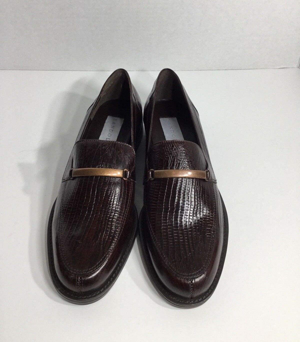 Women's Bandolina Brown Croc Leather 9 Flat Loafers Shoes Size 9 Leather 57dc77