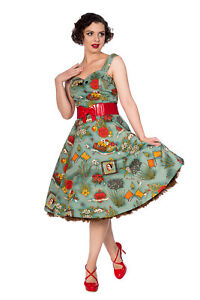 Women-039-s-Retro-Vintage-Rockabilly-Summer-Moon-Halter-Dress-By-Banned-Apparel