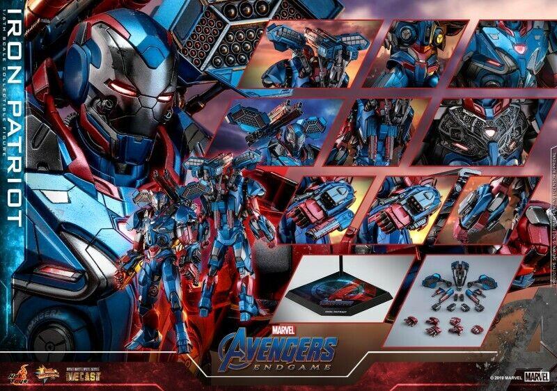 1 6th caliente giocattoli  Avengers 4 The Final Battle Iron uomo Patriots MMS547D34 cifra  fino al 42% di sconto