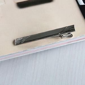 Mens-Alloy-Metal-Fashion-Silver-Simple-Necktie-Tie-Pin-Bar-Clasp-Clip-GiftGT