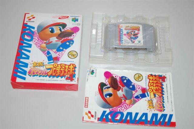 Jikkyo Powerful Pro Baseball 4 japan Nintendo 64 N64 Game