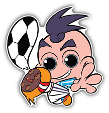 "Argentina Soccer Player Cute Cartoon Car Bumper Sticker Decal 5"" x 5"""