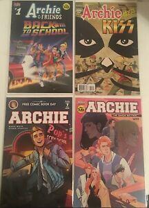 Archie Comic Book Lot Back To School, Meets Kiss, 699 The Saga so Far