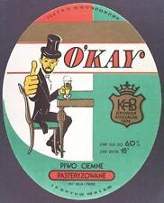Poland Brewery Koszalin O'Kay Beer Label Bieretikett Etiqueta Cerveza ko49.1