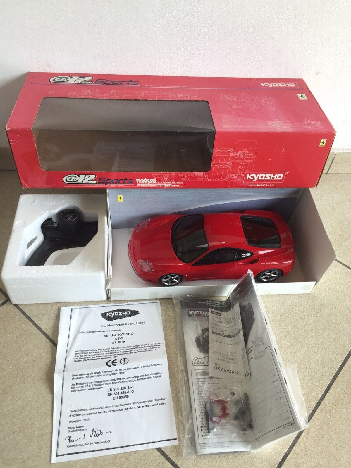 Ferrari 360 Modena 1 12 Kyosho @12 Sports Rc Car Rare No Nikko Taiyo Tamiya