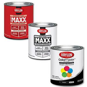 Krylon Acrylic Latex Enamel Paints 8oz Cans Ebay