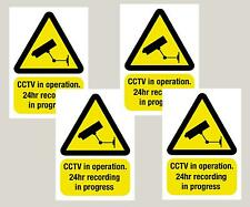 4 Grandes advertencia Cámara Cctv ventana Stickers signos calcomanías A5 210 x 148 mm