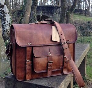 15-HANDCRAFTED-BRIEFCASE-DESIGNER-RETRO-CHIC-RUSTIC-LEATHER-LAPTOP-SATCHEL-BAG