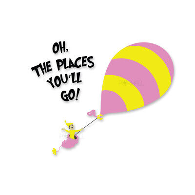 Seuss Nursery Dr ART PRINT Oh the Places You/'ll Go Quote Hot Air Balloon