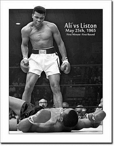 de Muhammad Ali Vs Liston 1965 boxing large steel sign 400mm x 300mm