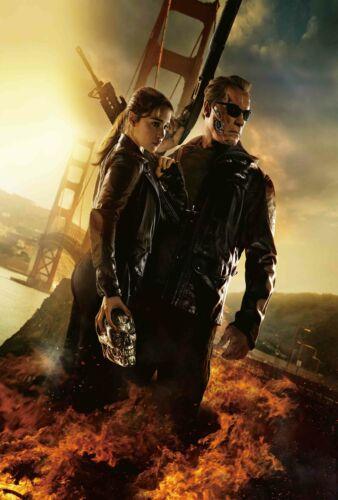 V636 Horror movie Art Fabric Poster 8x12Terminator Genisys Arnold Schwarzenegger