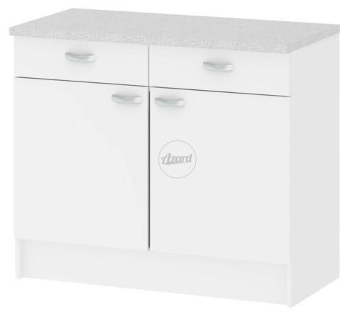 Mobile cucina madia 2 ante 2 cassetti legno colore bianco 98x50x85h
