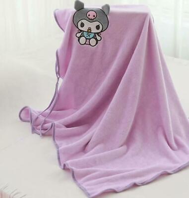 Kuromi black fuzzy Blanket Throw bed Blankets nap quilt quilts cartoon new