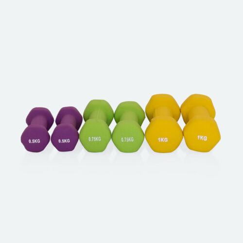 2x0,75kg Gymnastikhanteln 6er SetNeoprenSet 12x0,5kg 2x1,0kg