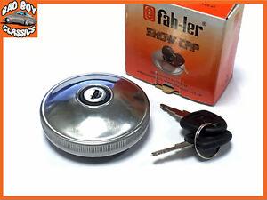 Fahler-Polished-STAINLESS-STEEL-Locking-Fuel-Petrol-Cap-FORD-TRANSIT-MK1-MK2