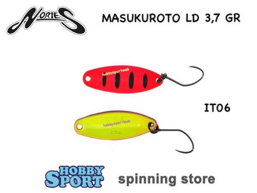 Masukuroto Nories Ld 3,7 Gr Italian Color It06 Spoon Area Forelle Spinnfischen
