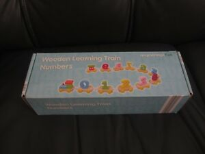 Toddlers-Kids-Wooden-Learning-Train-Numbers-0-9-Learn-to-Count-3-yrs-NEW